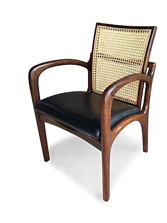 Atelier Clássico Cadeira VK com Braço Palhinha Natural Indiana Inspirada no Design de Vladimir Kagan