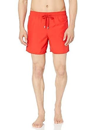 2cc8123d9b Vilebrequin Mens Moorea Solid Swim Trunk, Poppy Red, XXX-Large