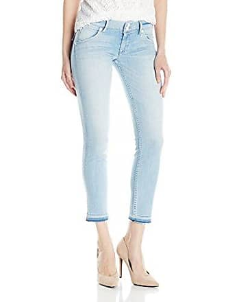 Hudson Womens Collin Skinny Crop Released Hem Flap Pocket Jean, Light Azure 29