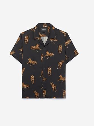 105d111c The Kooples Chemise col hawaïen noire imprimé panthères