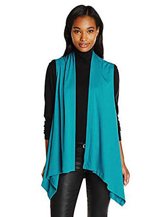 Joan Vass Womens Drape Front Vest, Blue Jay 0