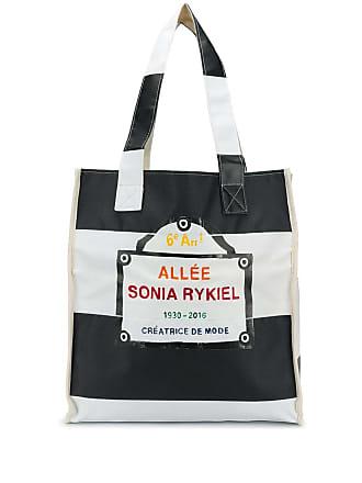 Sonia Rykiel Bolsa tote listrada - Preto
