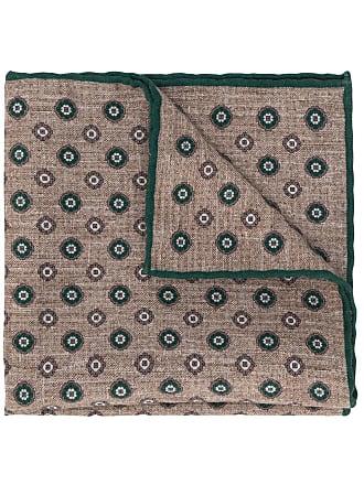 Eleventy geometric patterned scarf - Marrom