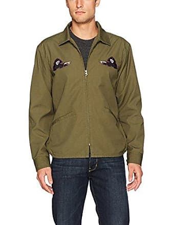 Obey Mens Reaper Gas Station Jacket, Army, L