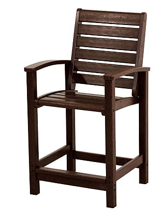POLYWOOD Outdoor POLYWOOD Signature Counter Chair Slate Grey, Patio Furniture - 1911-GY