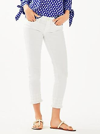 Lilly Pulitzer 28 South Ocean Skinny Cropped Pant With Lace