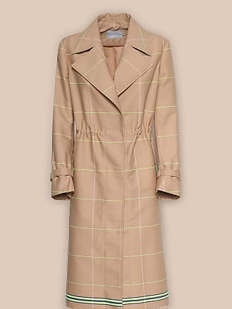 L'autre Chose FLARED TRENCH COAT WITH NEON PATTERNING