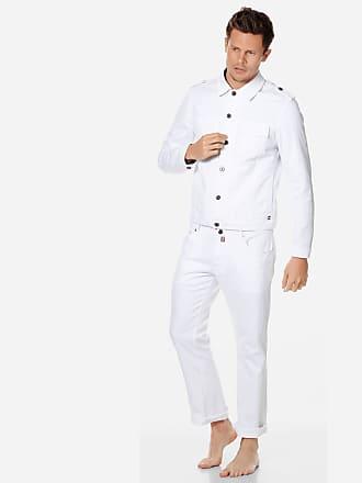 Vilebrequin Men Ready to Wear - Men White Denim Tracker Jacket - JACKET - LOUIBLAN - White - L - Vilebrequin