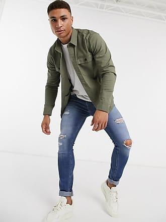 Hollister Langärmlige Jacke in Grün mit Reißverschluss
