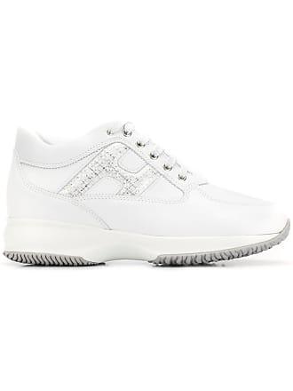 Hogan Interactive silver logo sneakers - White