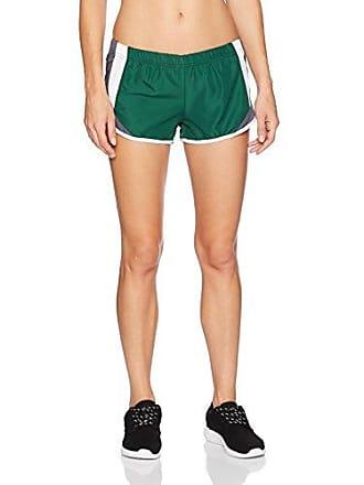Soffe Womens Juniors Shorty Short, Dark Green/Gunmetal, Medium