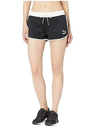 2430d2f56b3e Puma Flourish Touch of Life Shorts (Puma Black Whisper White) Womens Shorts