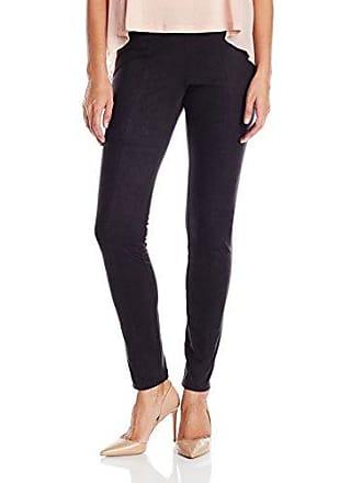 Nic+Zoe Womens Vegan Suede Legging, Black Onyx, MD (US 8-10) X 31