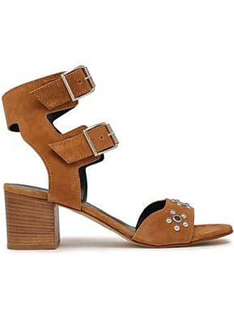 Rebecca Minkoff Rebecca Minkoff Woman Sofia Studded Leather Sandals Light Brown Size 36