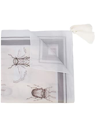 Johanna Ortiz insect print tassel scarf - Neutro