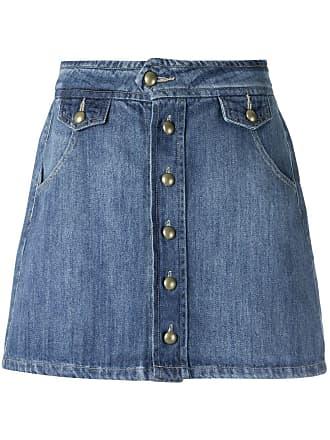 Pop Up Store Saia curta jeans - Azul