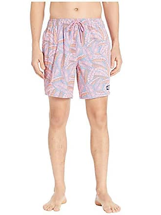 b71b27e5f7 Vineyard Vines Island Palms Chappy Swim Trunks (Washed Neon Pink) Mens  Swimwear
