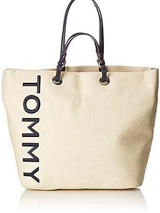 4663ddc201be7a Tommy Hilfiger Summer Raffia Tote - Borse Donna, Beige  (Naturalbrightwhite), 19.5x35