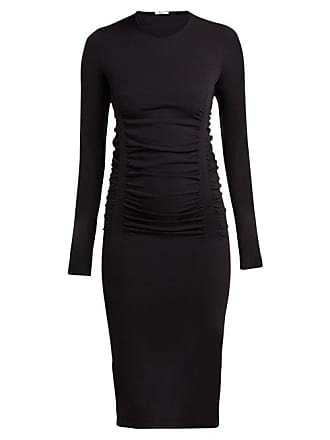 Wolford Fatal Drape Ruched Jersey Dress - Womens - Black