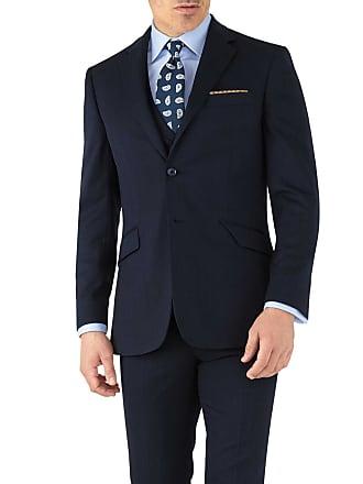 3a5f164c0778 CHARLES TYRWHITT Slim Fit Business Anzug Sakko aus Hairline in MarineBlau
