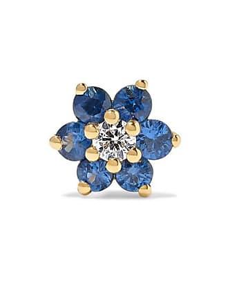 Maria Tash 5.5mm 18-karat Gold, Sapphire And Diamond Earring