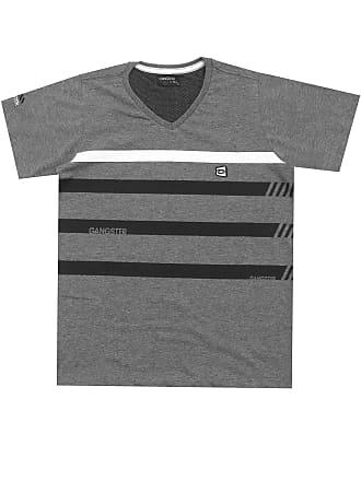Gangster Camiseta Gangster Menino Listras Cinza
