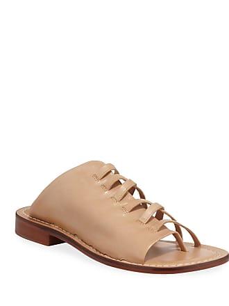 Bernardo Tori Half-Caged Flat Leather Slide Sandals