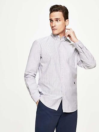 Henley Royal Regatta Mens Stripe Multi-Panel Oxford Cotton Shirt   Medium   Sky/Blue