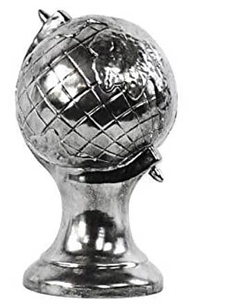 Urban Trends Collection Urban Trends Ceramic Globe Sculpture, Tarnished Chrome Silver