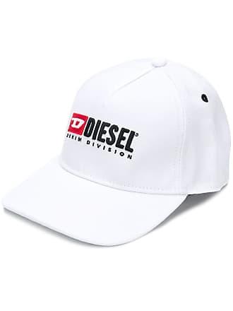 Diesel Cappello da baseball con logo ricamato - Di Colore Bianco 8c982b597e66