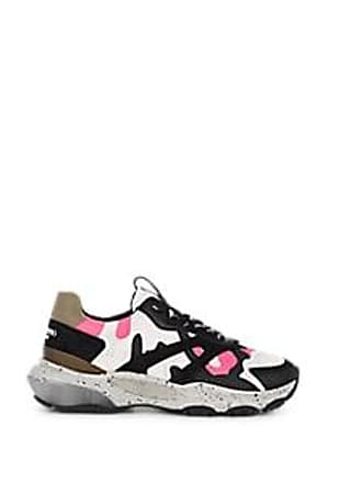 Valentino Mens Bounce Camouflage Sneakers - Black Size 10.5 M