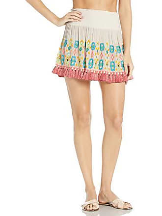 Ramy Brook Womens Paola Embroidered Skirt, White, Extra Small