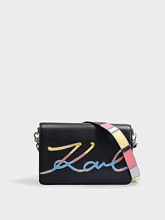 45ac622e8d Karl Lagerfeld Sac Porté Epaule K/Signature Special Email en Cuir de Veau  Noir