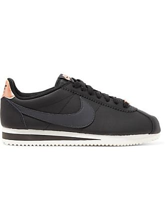 50022f475603 Nike Classic Cortez Textured-leather Sneakers - Black