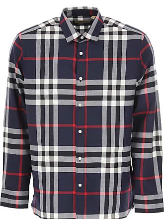 7cf9faf279 Burberry Camicia Uomo On Sale, Blu Scuro Melange, Cotone, 2017, L XL