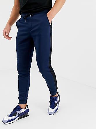 b6547db4f002cf Only   Sons Pantalon de jogging avec rayures sur les côtés - Navy