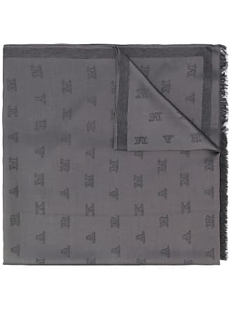 Max Mara jacquard scarf - Cinza
