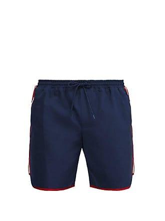 e1a54318f8 Gucci Tape Logo Swim Shorts - Mens - Blue Multi