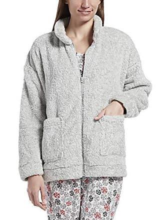 Hue Womens Fleece Bed Jacket, Sterling Blend, L/XL
