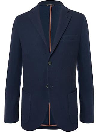 Loro Piana Navy Slim-fit Unstructured Cashmere And Virgin Wool-blend Blazer - Navy