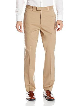64826e327a Savane Mens Flat Front Stretch Executive Khaki Dress Pant, 30W x 32L