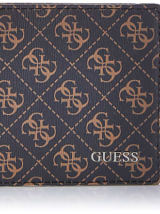 Guess Manhattan Logo, Mens Wallet, Brown, 2.5x9.6x12.2 cm (W x H L)