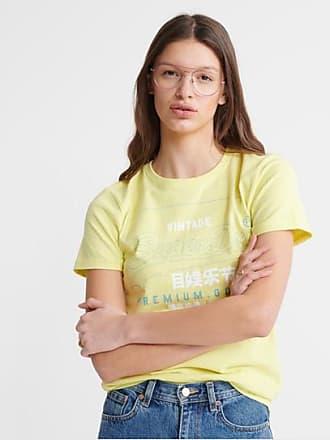 Superdry T-shirt in cotone biologico Premium Goods Label Outline