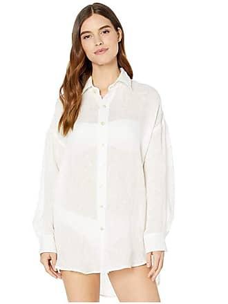 ae70b68b12 Vitamin A Playa Shirtdress Cover-Up (Ecolinen Gauze White) Womens Swimwear