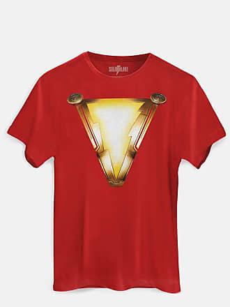 DC Comics Camiseta Shazam Logo Filme Oficial Masculina