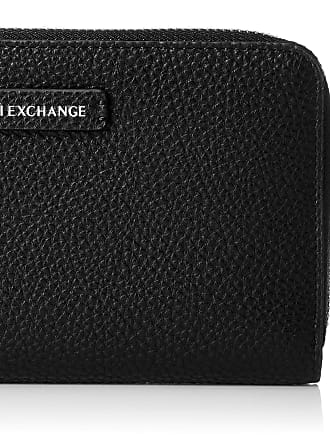 A X Armani Exchange Round Zip Wallet, Womens Black, 11x2x19 cm (B x H T)