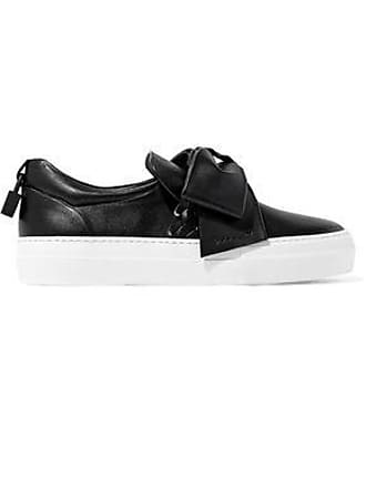 c722adbc70a Buscemi Buscemi Woman Embellished Leather Slip-on Sneakers Black Size 39.5