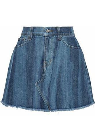 Derek Lam Derek Lam Woman Cleo Frayed Faded Denim Mini Skirt Mid Denim Size 29