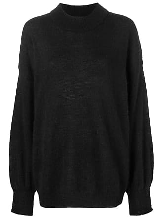 Fine Edge oversized turtleneck sweater - Preto