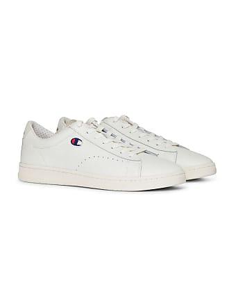 900c282d5 Champion Mens Cut Shoe 919 Low Patch Leather Trainers, White (Wht), 10.5